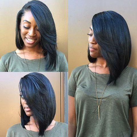 Featured Photo of Long Bob Hairstyles With Weave