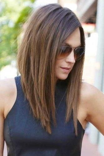 Best 25+ Long Bob With Fringe Ideas On Pinterest (View 3 of 15)