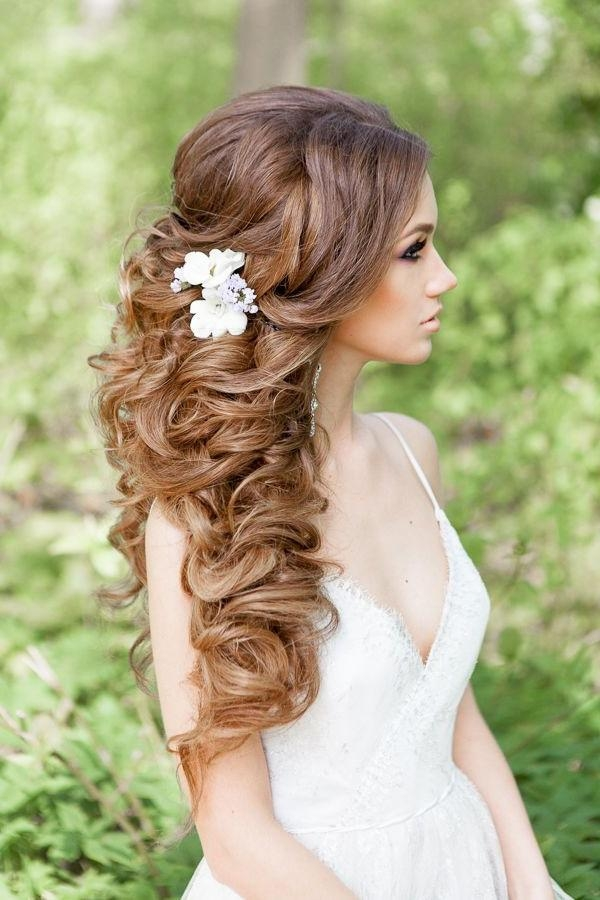 Best 25+ Long Curly Wedding Hair Ideas On Pinterest | Long Hair Inside Curly Hairstyles For Weddings Long Hair (View 3 of 15)