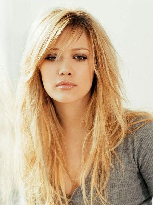 Best 25+ Long Hairstyles With Bangs Ideas On Pinterest | Long Hair For Long Length Hairstyles With Fringe (View 3 of 15)