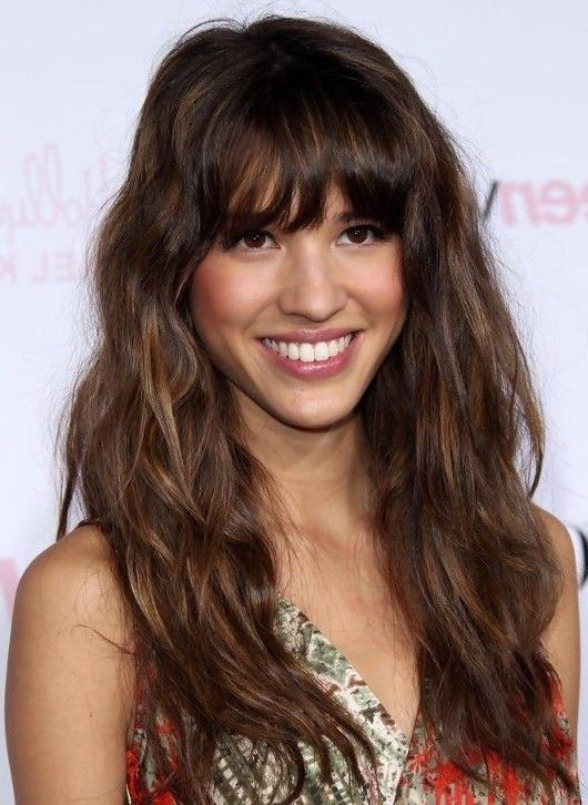 Best 25+ Long Hairstyles With Bangs Ideas On Pinterest | Long Hair Pertaining To Long Length Hairstyles With Fringe (View 6 of 15)