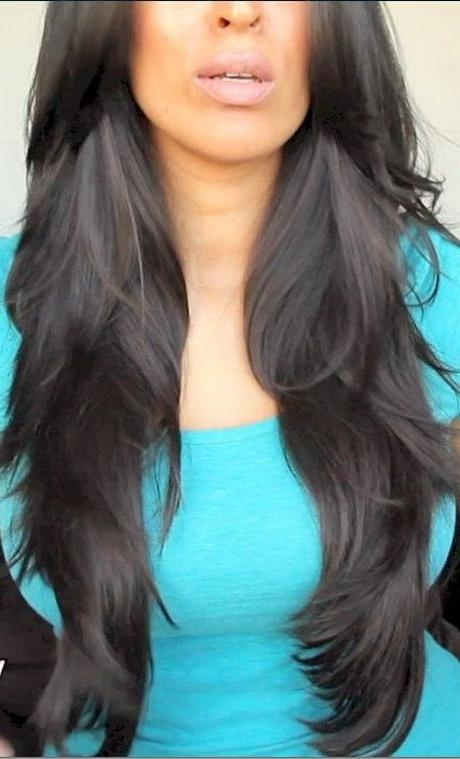 Best 25+ Long Layered Haircuts Ideas On Pinterest | Long Layered For Black Long Layered Hairstyles (View 11 of 15)