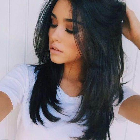 Best 25+ Long Layered Haircuts Ideas On Pinterest   Long Layered With Black Long Layered Hairstyles (View 1 of 15)