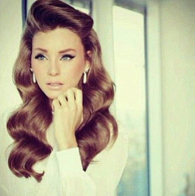 Best 25+ Old Fashioned Hairstyles Ideas On Pinterest | Retro Inside Long Vintage Hairstyles (View 5 of 15)