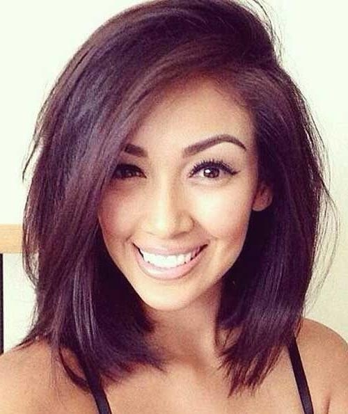 Best 25+ Round Face Bob Ideas On Pinterest | Round Face Short Hair With Regard To Haircuts For Chubby Face Long Hair (View 13 of 15)