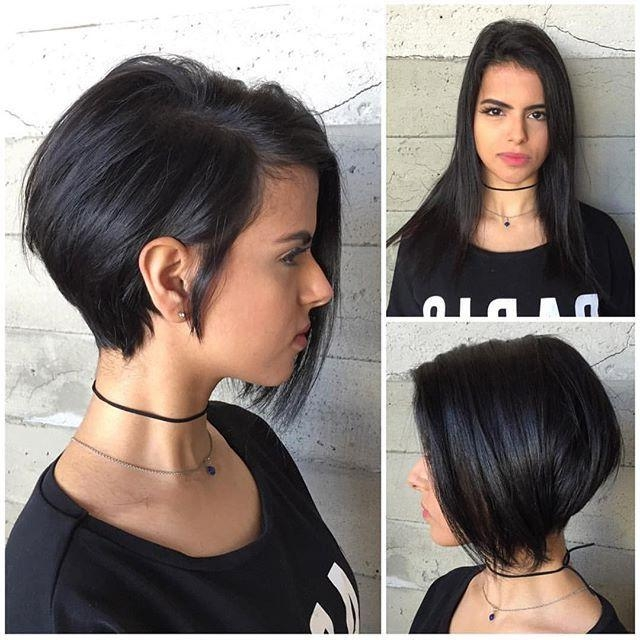 Best 25+ Short Asymmetrical Hairstyles Ideas On Pinterest Intended For Most Recently Released Short Asymmetrical Bob Hairstyles (View 5 of 15)