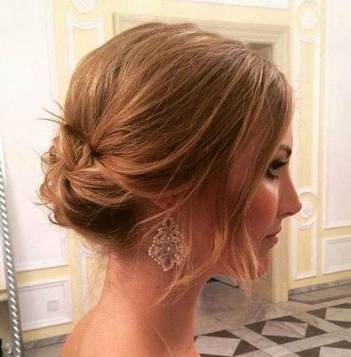Best 25+ Shoulder Length Updo Ideas On Pinterest | Medium Length Regarding Medium Long Updos Hairstyles (View 14 of 15)