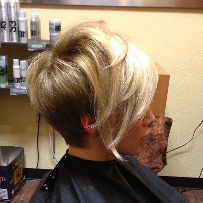 Photo Gallery Of Short In Back Long In Front Hairstyles Viewing 7