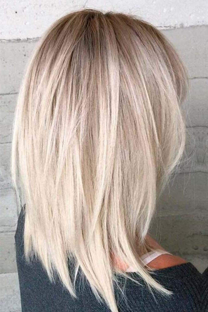 Photo Gallery Of Medium Length Bob Hairstyles For Thick Hair