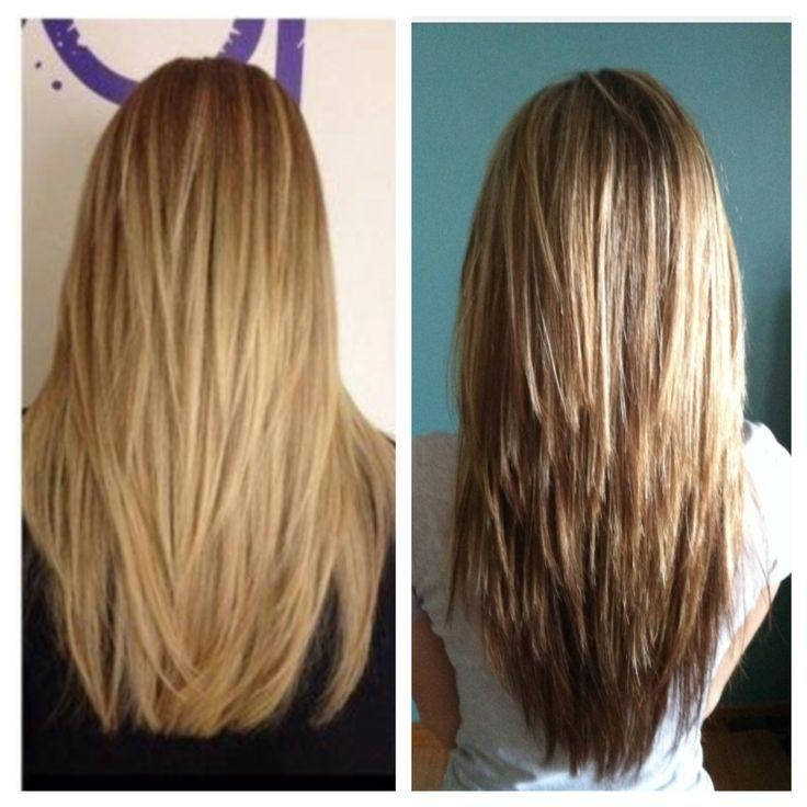Best 25+ V Layered Haircuts Ideas On Pinterest | V Layers, V Layer Regarding Long And Short Layers Hairstyles (View 10 of 15)