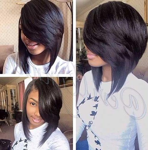 Black Inverted Bob Hairstyles With Weave And Short Hair – Bobs Within Widely Used Short Bob Hairstyles With Weave (View 5 of 15)