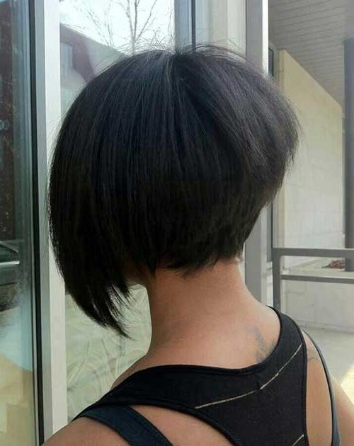 Bob Hairstyles 2017 – Short Pertaining To Most Recently Released Asymmetrical Bob Hairstyles Back View (View 4 of 15)