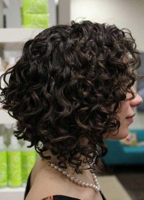 Bob Hairstyles 2017 – Short With Regard To Latest Curly Inverted Bob Hairstyles (View 5 of 15)