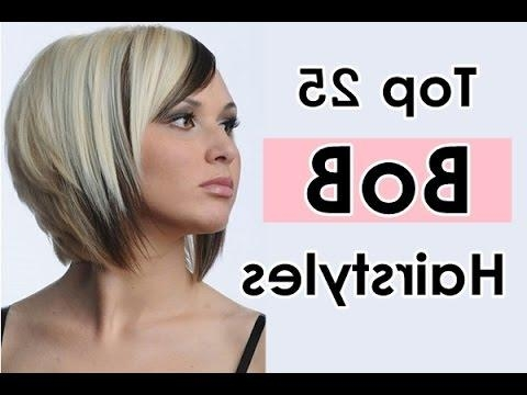 Bob Hairstyles For Long, Short, Thick, Thin, Round Faces With Fine Inside Fashionable Short Layered Bob Hairstyles For Round Faces (View 13 of 15)