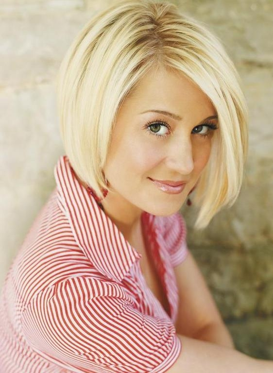 Celebrity Blonde Sliced Asymmetric Bob – Kellie Pickler's Short Inside Most Recently Released Asymmetrical Bob Hairstyles For Beautiful Women (View 14 of 15)