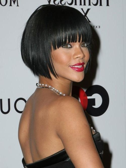 Creativefan With Regard To Widely Used Rihanna Bob Hairstyles With Weave (View 5 of 15)