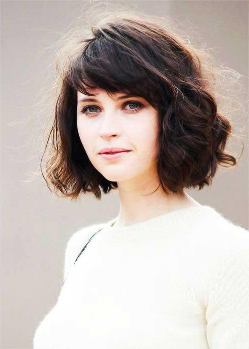 fringe styles for curly hair 15 photo of wavy bob hairstyles with bangs 8224