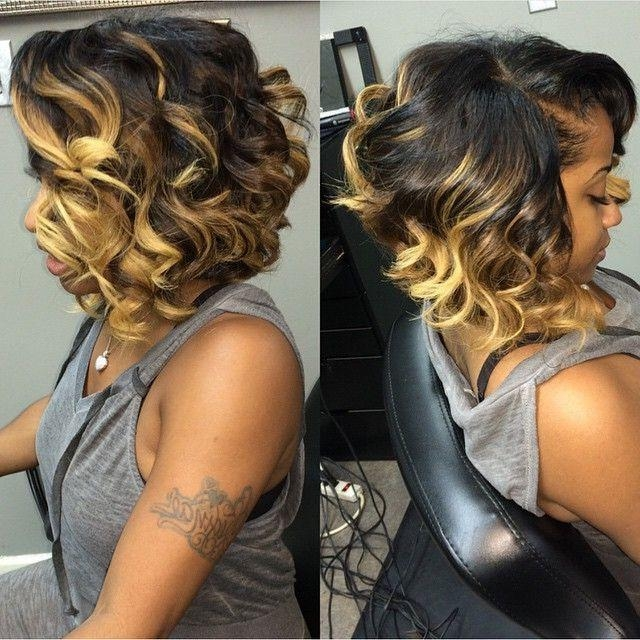 Curly For Most Recently Released Curly Bob Hairstyles For Black Women (View 9 of 15)