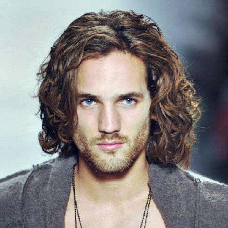 Curly Hairstyles For Black Men Within Long Curly Haircuts For Men (View 9 of 15)