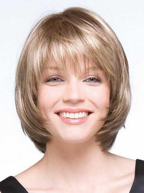 Current Short Layered Bob Hairstyles For Round Faces With Regard To 55 Incredible Short Bob Hairstyles & Haircuts With Bangs (View 3 of 15)