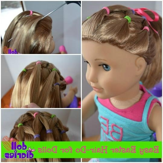 Easy Easter Hair Do For Dolls | Doll Diaries Regarding Cute Hairstyles For American Girl Dolls With Long Hair (View 14 of 15)