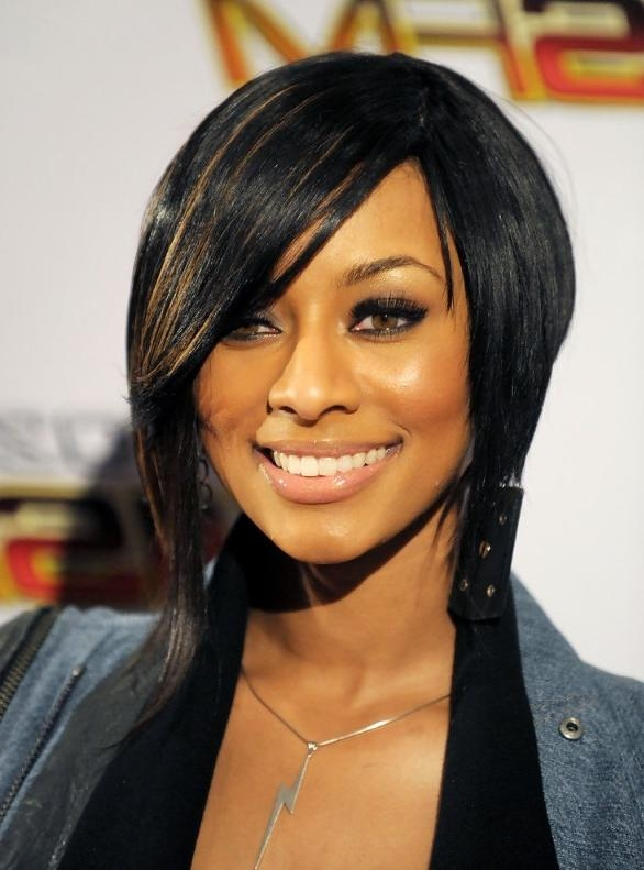 Famous Bob Hairstyles For Black Women With Sleek Bangs Inside Sleek Inverted Bob Hairstyle For Black Women – Hairstyles Weekly (View 9 of 15)