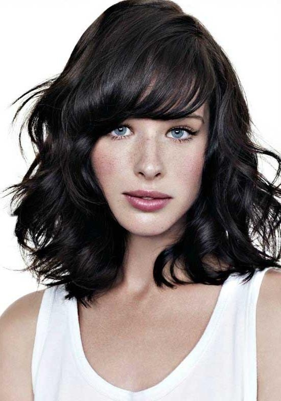 Famous Wavy Bob Hairstyles With Bangs For 35 Awesome Bob Haircuts With Bangs – Makes You Truly Stylish (View 6 of 15)