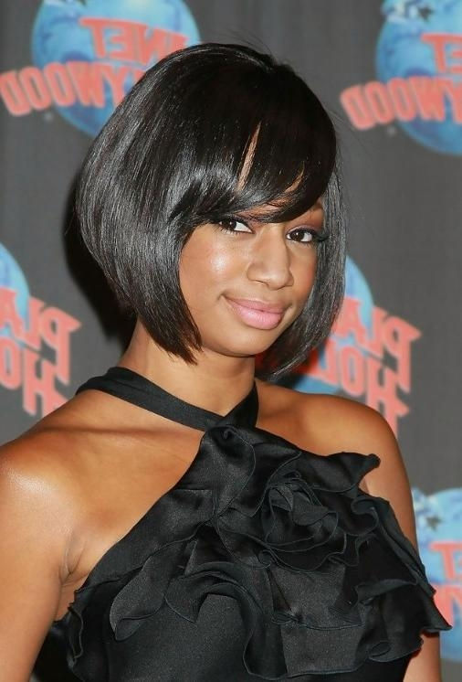 Fashionable Bob Hairstyles For Black Women With Sleek Bangs Intended For African American Short Haircut Ideas: Sleek Bob Haircut – 2014 Bob (View 10 of 15)