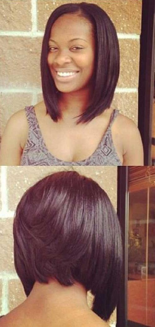 Favorite Asymmetrical Bob Hairstyles For Black Women With Regard To Nice Short Bobs For Black Women (View 6 of 15)