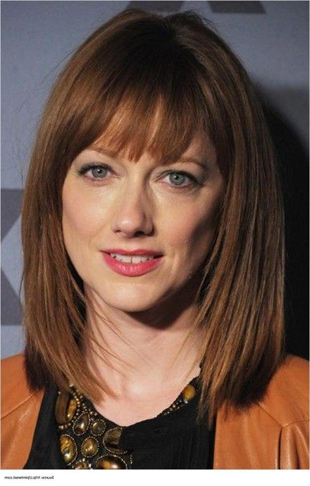 Favorite Medium Length Bob Hairstyles With Bangs Throughout 25 Fancy Layered Mid Length Bob Hairstyles – Wodip (View 6 of 15)