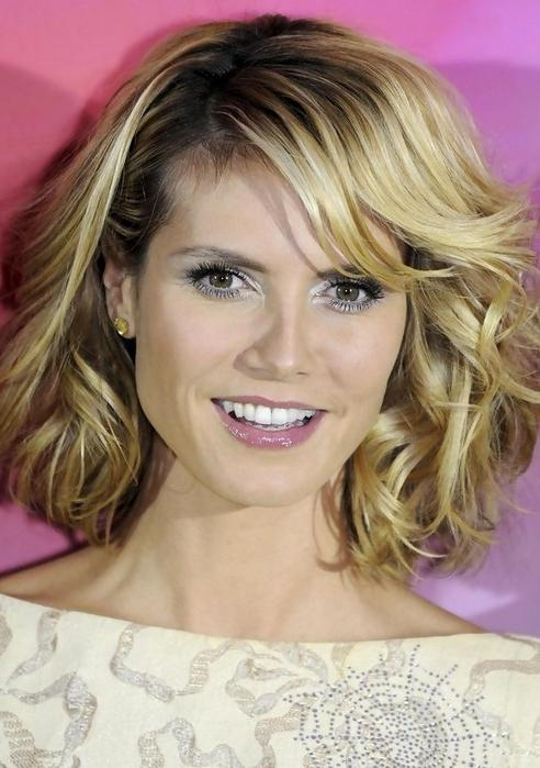 Favorite Medium Length Curly Bob Hairstyles With 28 Heidi Klum Hairstyles Heidi Klum Hair Pictures – Pretty Designs (View 8 of 15)