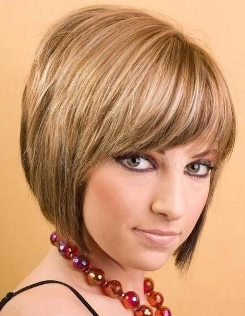 Favorite Short Layered Bob Hairstyles With Bangs Pertaining To Bob Haircut – Layered Bob Haircut With Fringe (View 4 of 15)