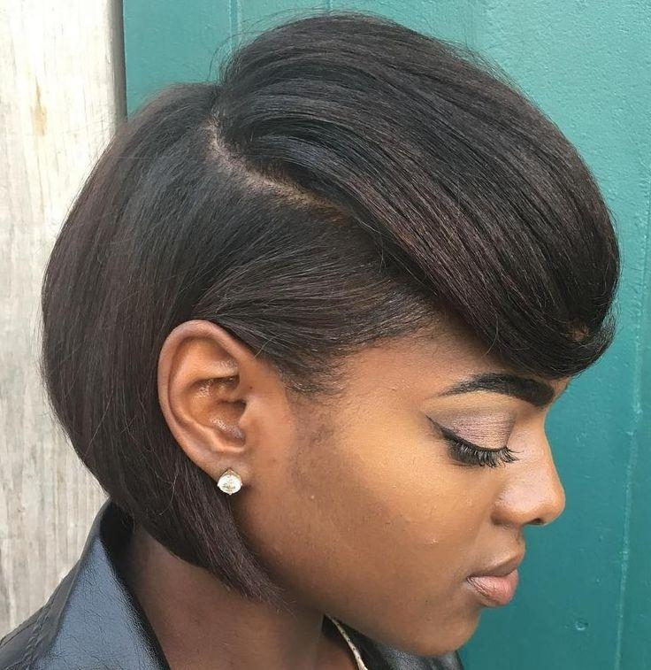 Feathered Bob Pertaining To Most Up To Date African American Bob Hairstyles For Black Women (View 9 of 15)