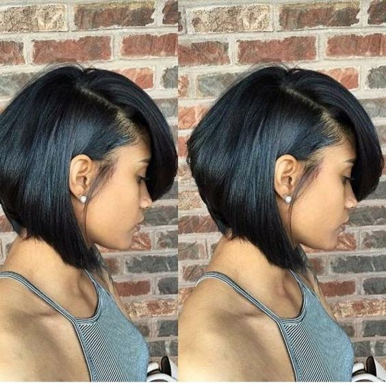 Feathered Bob Throughout Most Up To Date Short Black Bob Hairstyles (View 7 of 15)