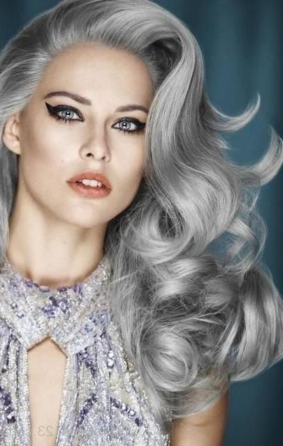 Grey Hairstyles Within Long Vintage Hairstyles (Gallery 6 of 15)
