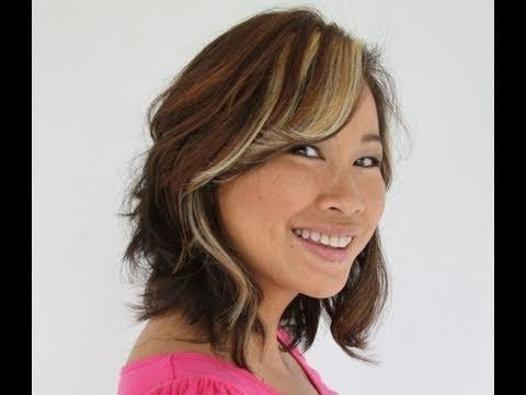 how to style shoulder length layered hair 15 best ideas of medium length layered bob hairstyles 2387