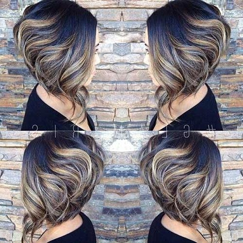 Inverted Bob Haircuts For Thick Hair 2017 In Latest Wavy Inverted Bob Hairstyles (Gallery 11 of 15)