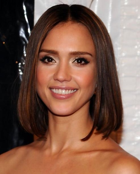 Jessica Alba Hairstyles: Straight Long Bob – Popular Haircuts With Favorite Jessica Alba Bob Hairstyles (Gallery 10 of 15)