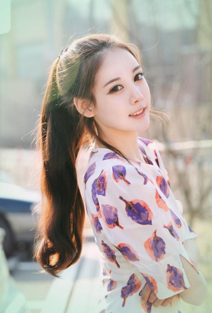 Korean Girls Hairstyle – High Ponytail – Latest Hair Styles – Cute In Korean Cute Girls