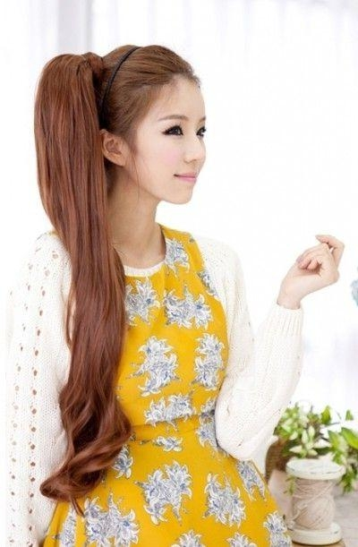 Korean Girls Hairstyle – Long Side Ponytail – Latest Hair Styles Regarding Korean Women With Long Hairstyles (View 9 of 15)