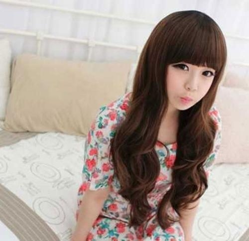 Korean Long Hairstyles For Girls Within Korean Cute Girls Latest Hairstyles (Gallery 3 of 15)