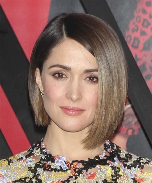 Latest Rose Byrne Bob Hairstyles Pertaining To Rose Byrne Medium Straight Formal Bob Hairstyle – Medium Brunette (View 8 of 15)