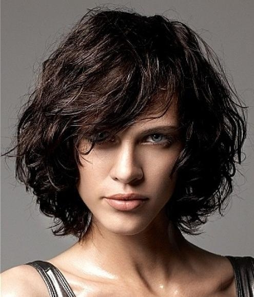 Latest Wavy Bob Hairstyles With Bangs Throughout Layered Curly Bob Hairstyle – Hairstyles Weekly (View 7 of 15)