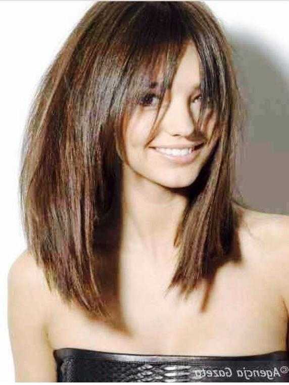 Layered Bob Hairstyles This Ideas Can Make Your Hair Look Astonishing Inside Long Bob Hairstyles With Bangs (View 9 of 15)