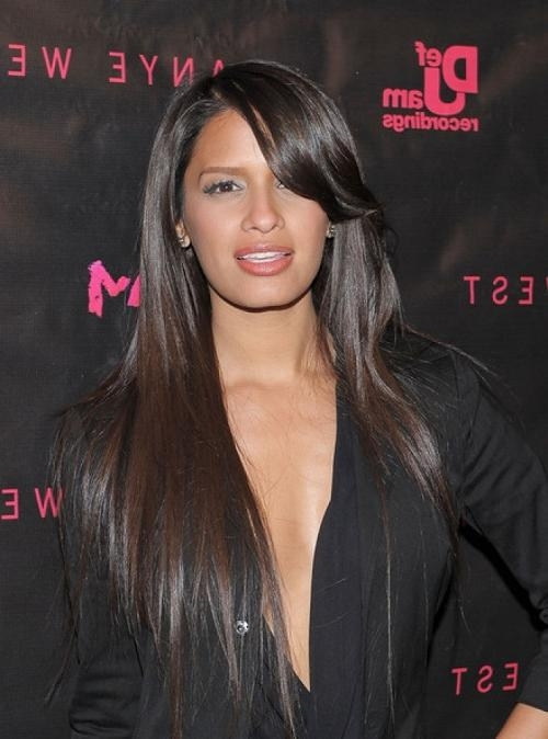 Layered Hairstyles For African American Women With Straight Hair In Black Long Layered Hairstyles (View 12 of 15)
