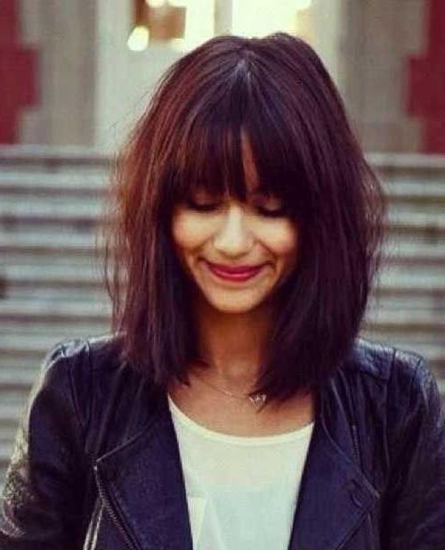 Long Bob Hairstyles With Bangs – Billedstrom With Long Bob Hairstyles With Bangs (View 12 of 15)