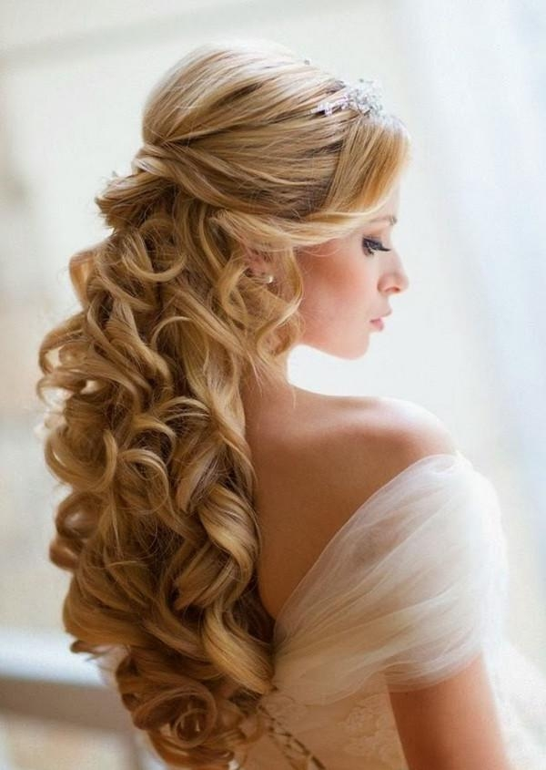 Long Hairstyles : Wedding Hairstyles For Long Hair Updo Top Pertaining To Hairstyles For Long Hair For Wedding (View 11 of 15)