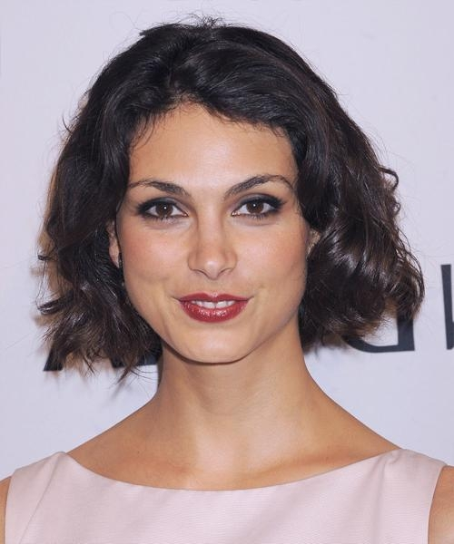 Morena Baccarin Short Wavy Casual Hairstyle – Dark Brunette (Mocha With Newest Morena Baccarin Bob Hairstyles (View 8 of 15)
