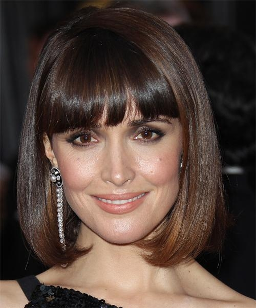 Most Current Rose Byrne Bob Hairstyles Intended For Rose Byrne Medium Straight Formal Bob Hairstyle With Blunt Cut (View 9 of 15)