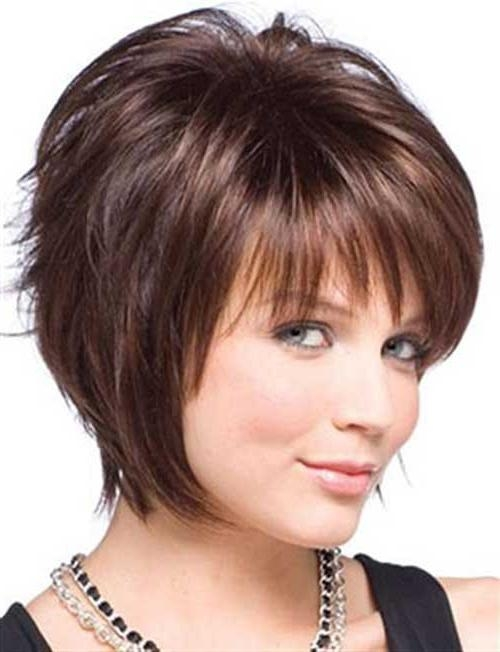 Most Current Short Layered Bob Hairstyles For Round Faces For Layered Bob Hairstyles For Round Faces Inspirational – Wodip (View 7 of 15)
